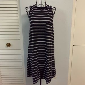 One Clothing sleeveless stripes dress